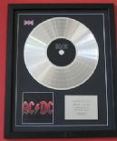 AC/DC - Black Ice CD / LP PLATINUM PRESENTATION DISC